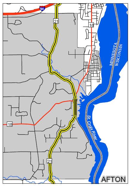 afton large map