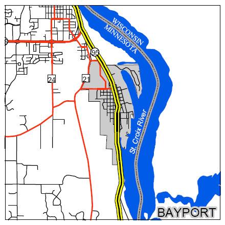 bayport large map