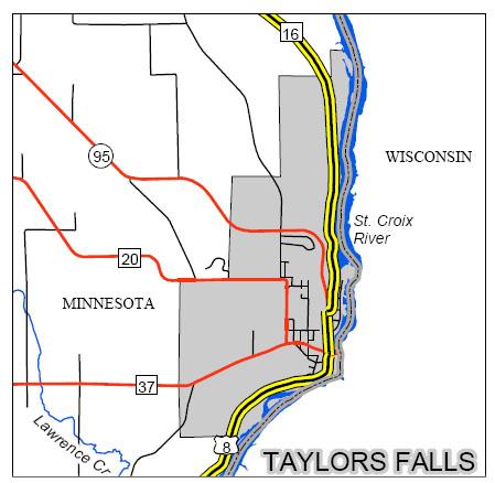 Taylors Falls Large Map